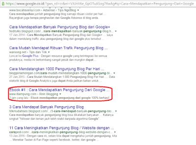 Belajar dan Berbagi Page One di Google
