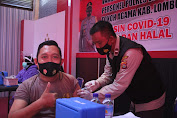 Batalyon Vaksinator TNI Polri dan pemda Lobar, Lakukan Vaksinasi Dosis ke dua di Polres Lobar