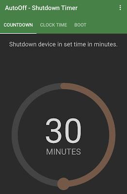 Set countdown for phone shutdown
