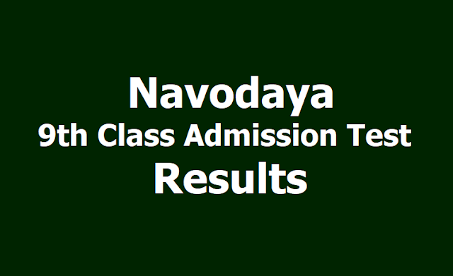 Navodaya 9th Class Admission Test Result 2019