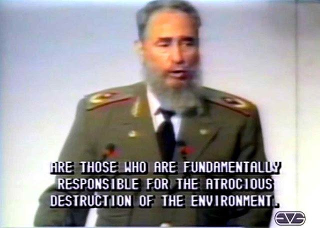 Fidel Castro sublinhou que a revolução ecológica vinha a completar as velhas metas do marxismo ortodoxo