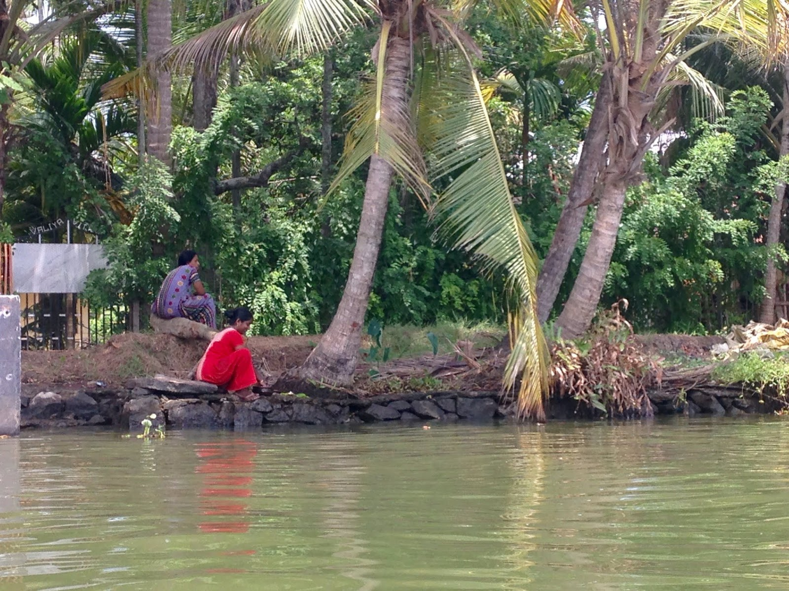 Residents in Alleppey