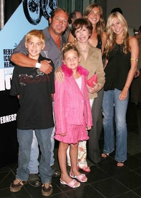 Chad McQueen with his family
