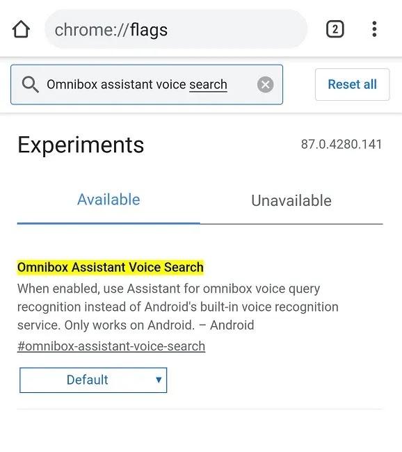 كيفية استخدام مساعد Google في Chrome على بحث Android