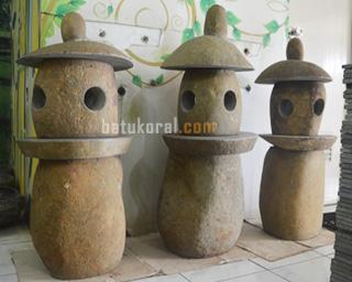 LAMPION BATU KALI UNTUK TAMAN DI JAKARTA TANGERANG