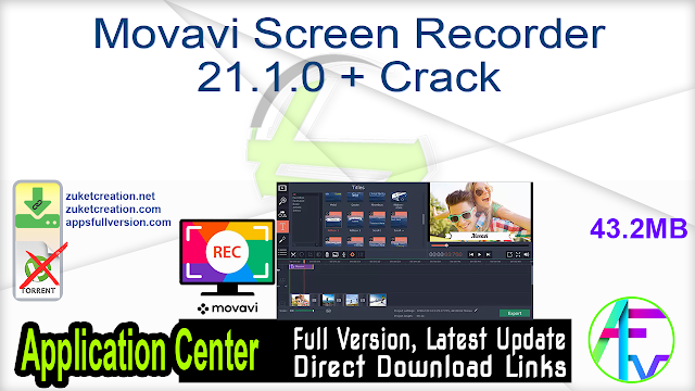 Movavi Screen Recorder 21.1.0 + Crack