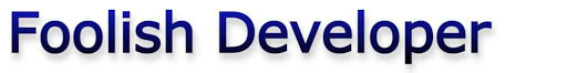 Foolish Developer
