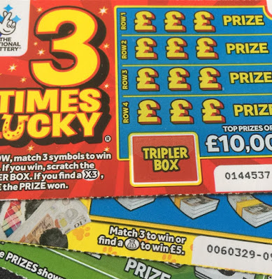£1 3 Times Lucky Scratchcard
