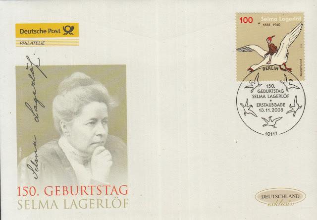 Germany 150. Geburtstag Selma Lagerlöf FDC