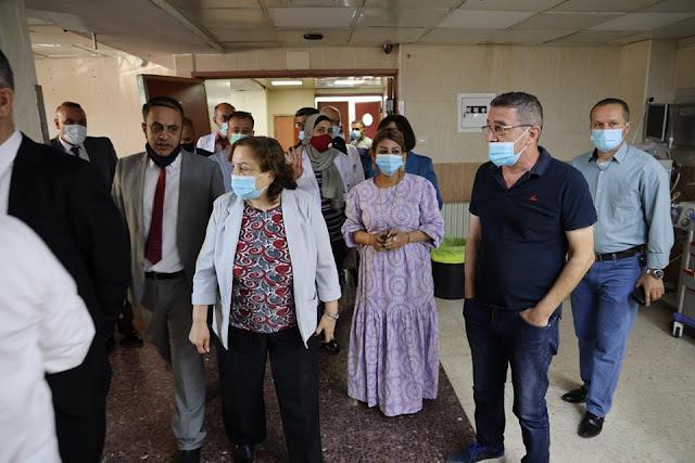 أجرت وزيرة الصحة دكتورة مي الكيلة يوم الخميس جولة في محافظتي نابلس وطوباس والأغوار الشمالية