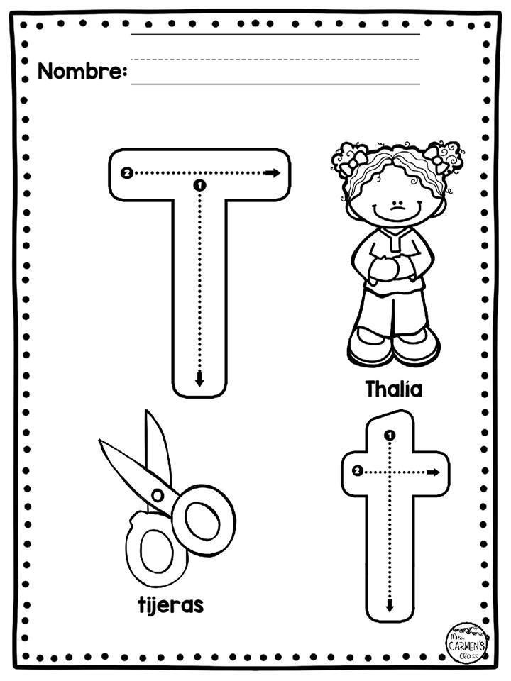 Fichas De Abecedario Para Colorear Materiales Educativos Para Maestras