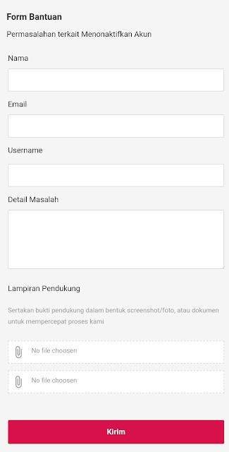 formulir penutupan akun bukalapak