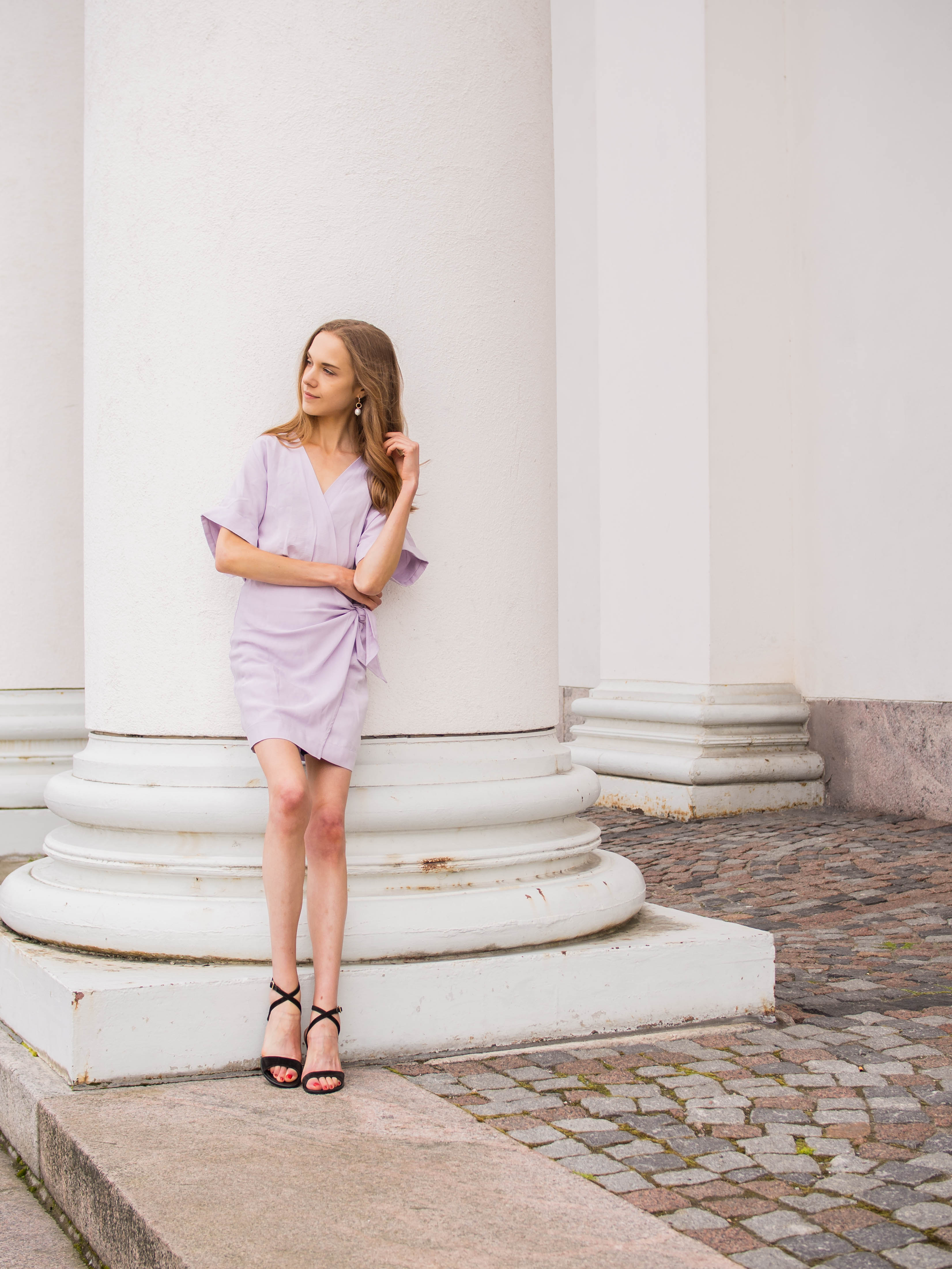 Lilac mini wrap dress from &Other Stories - &Other Stories vaaleanvioletti kietaisumekko