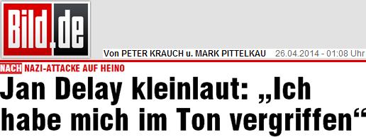 """Jan Delay: """"Ich habe mich im Ton vergriffen"""""""