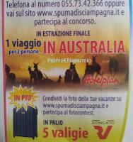 Logo Con Spuma di Sciampagna vinci valige Roncato e viaggio in Australia
