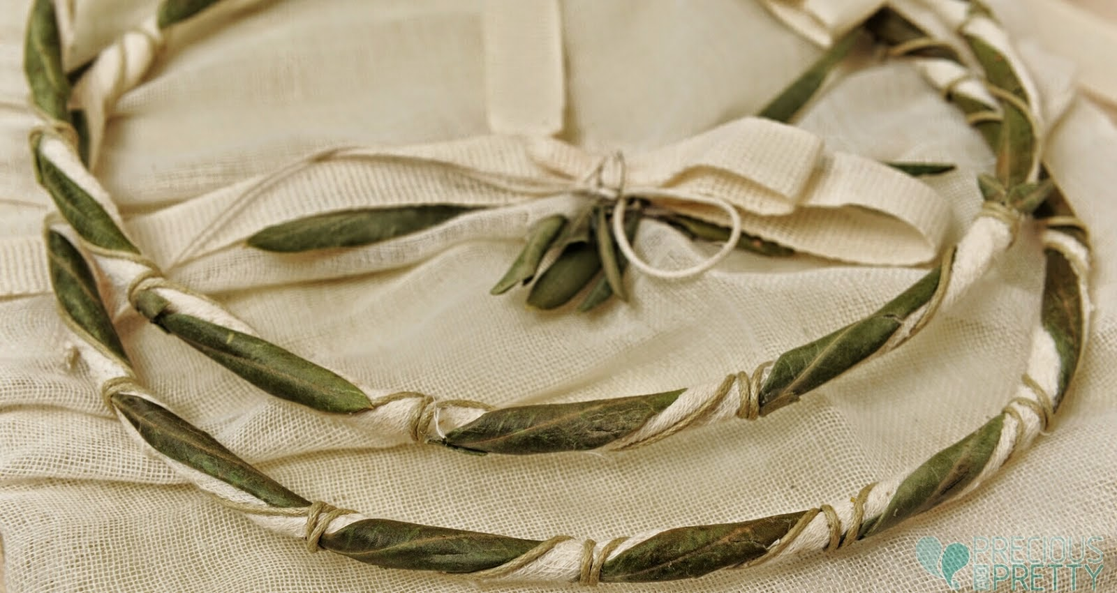 Wedding stefana with olive leaves from Greece