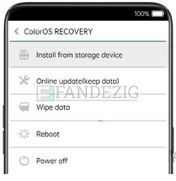 Cara Flash Oppo A11k via SD Card