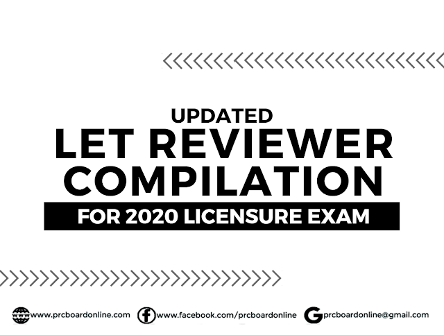 Updated LET Reviewer with Answer Key Compilation 2020 ...