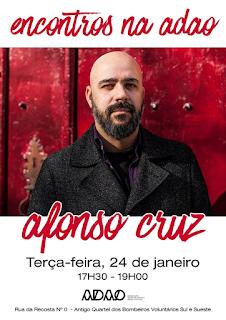 Afonso Cruz na ADAO - Barreiro - Apresentado por Paulo Freixinho