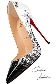 Christian Louboutin So Kate Degraloubi grafity pumps #brilliantluxury