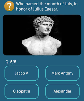 Who named the month of July in honor of Julius Caesar?