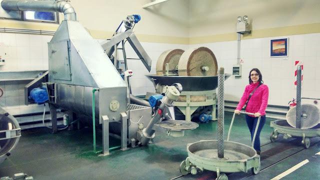 Maquinário para fabricação de azeites na olivícola Pasrai, Mendoza, Argentina.