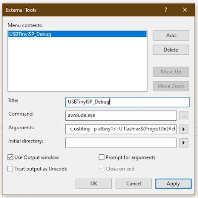 Add USBTiny to Atmel Studio