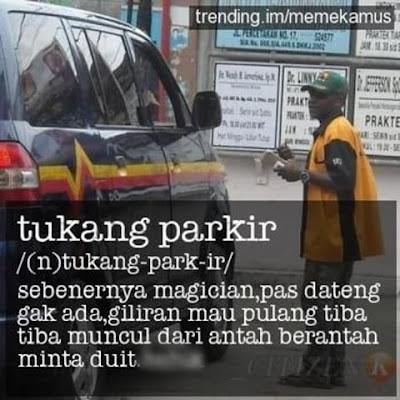 10 Meme Kocak 'Tukang Parkir' Ini Nyindirnya Ngeselin Banget