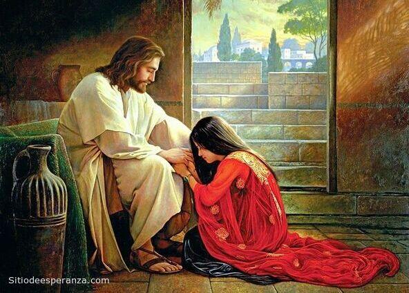 Jesús perdona a María Magdalena