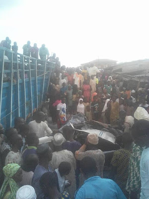 OMG: 4 Killed As Lorry Falls On Commercial Bus Carrying Students