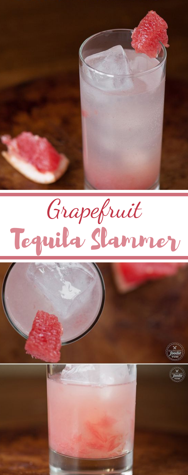 Grapefruit Tequila Slammer #cocktail #drinks