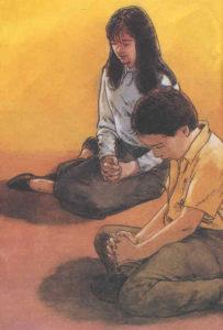 Ragazzi che pregano