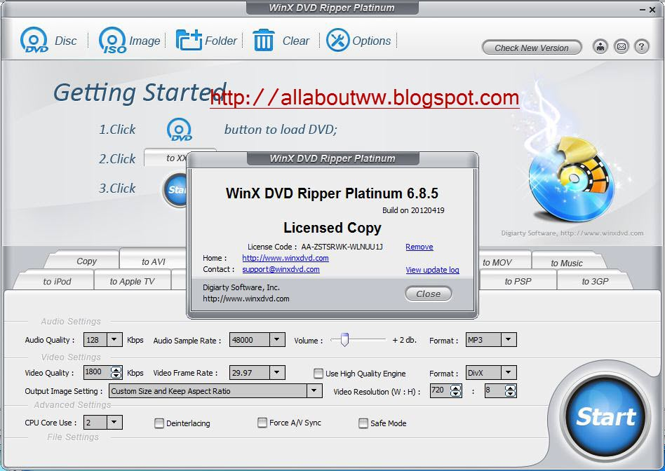 winx dvd ripper platinum free license code 2019