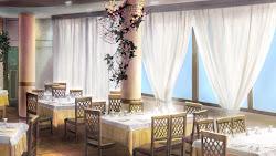 anime background restaurant fancy landscape