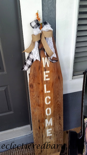 Vintage Ironing Board. Share Now. #wreaths #sunflowers #fallwreaths #eclecticredbarn