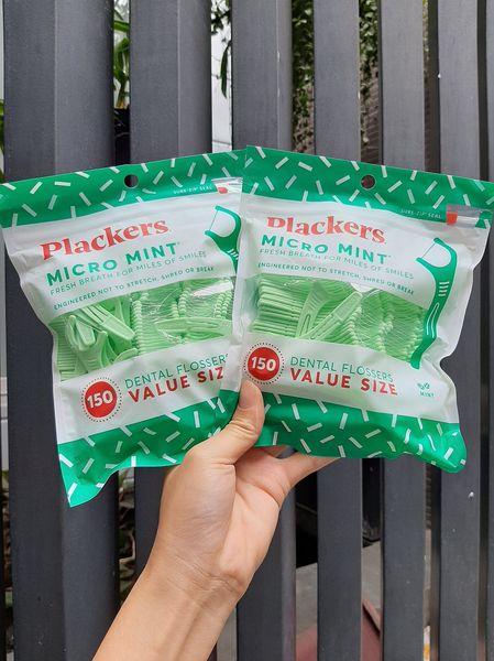 Cung chỉ nha khoa Plackers Micro Mint Freshens Breath Vị Bạc Hà