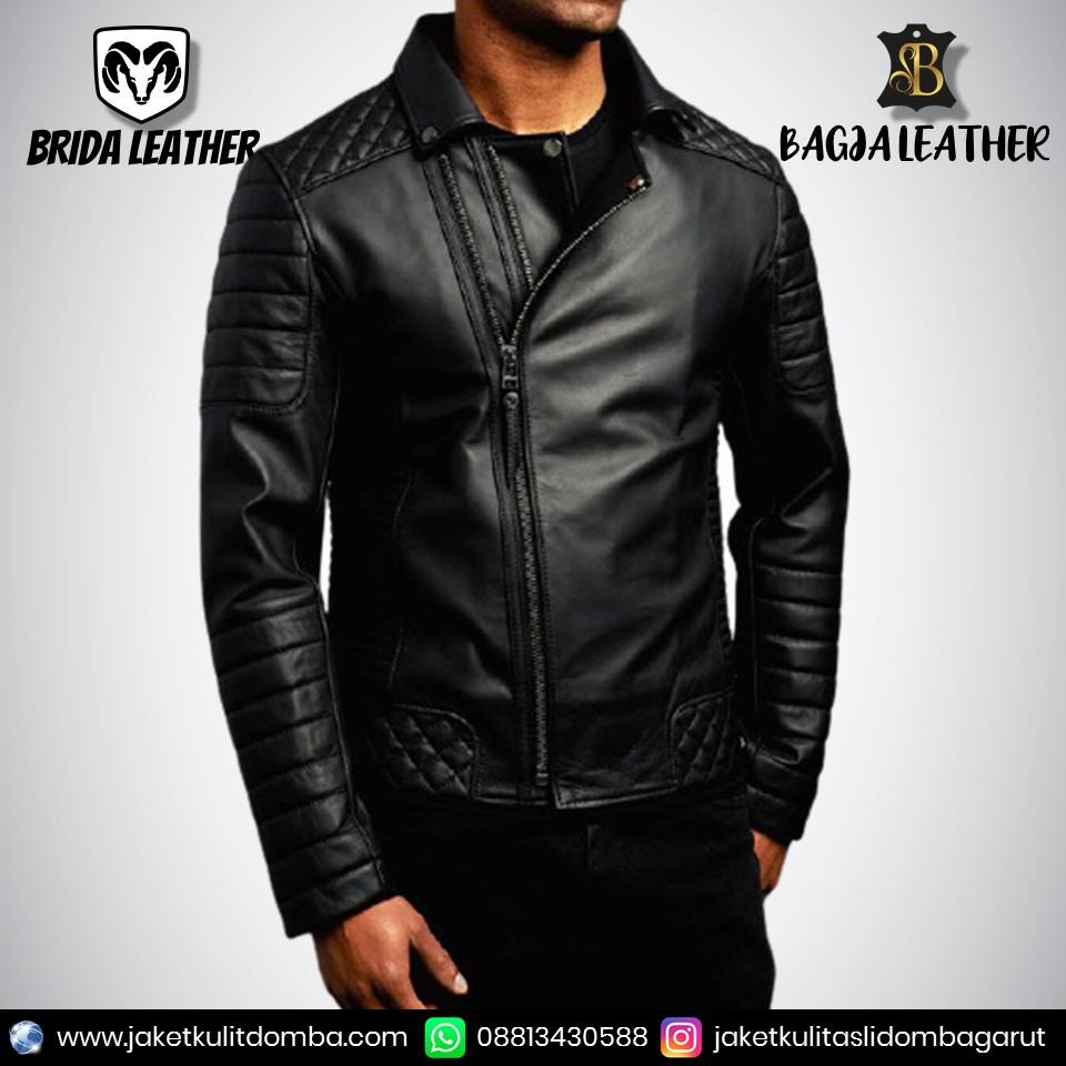 jaket kulit formal pria
