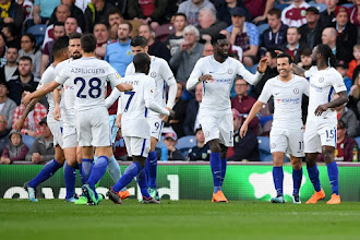 Victor Moses scores as Chelsea win against Burnley