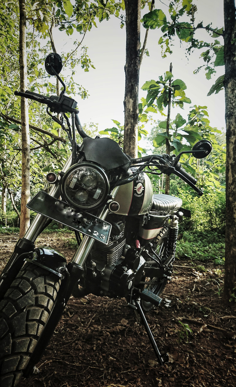 modifikasi honda tiger scrambler