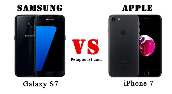 Sesuai dengan namanya yang menyandang aksara  Nih Perbandingan Samsung S7 dan iPhone 7