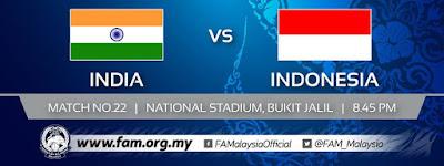Live Streaming India vs Indonesia AFC U16 27.9.2018