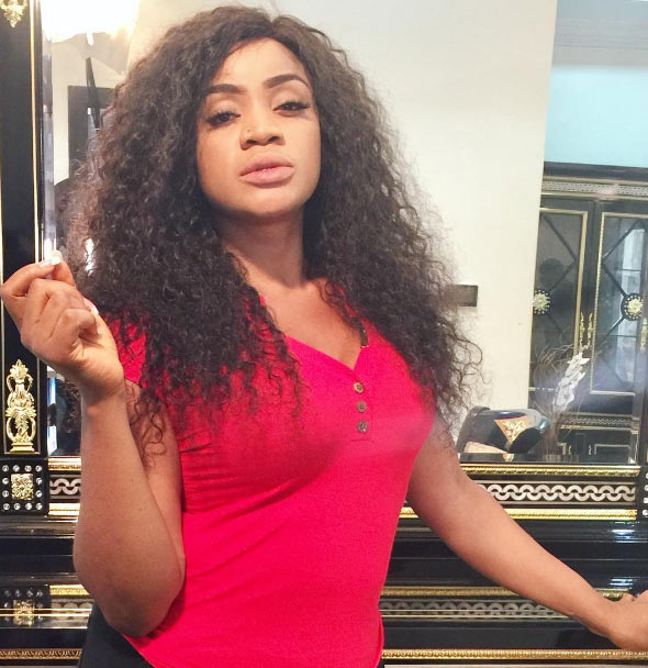 Uche Ogbodo looks entirely different as she's pictured on movie set