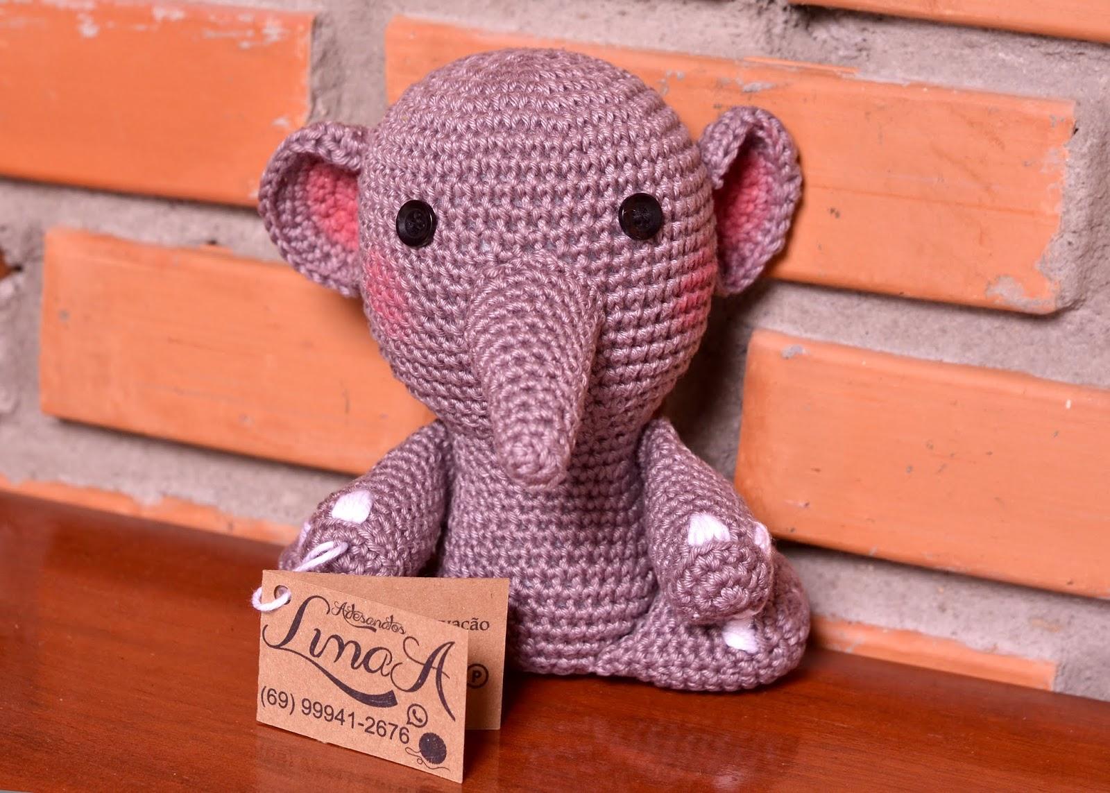 Amigurumi: Receitas de Elefante Amigurumi | 1143x1600