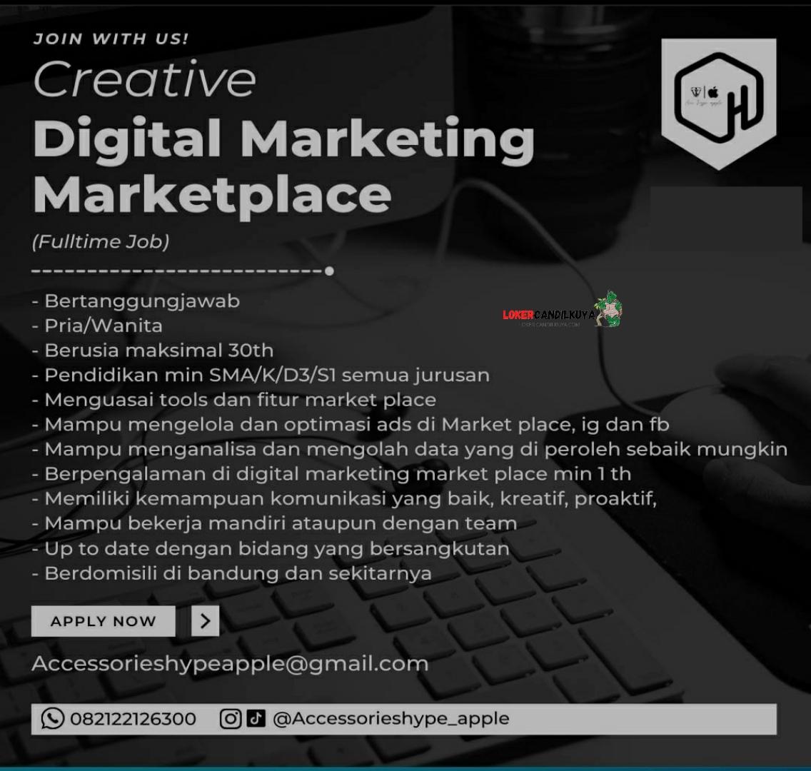 Lowongan Kerja Digital Marketing Marketplace Bandung