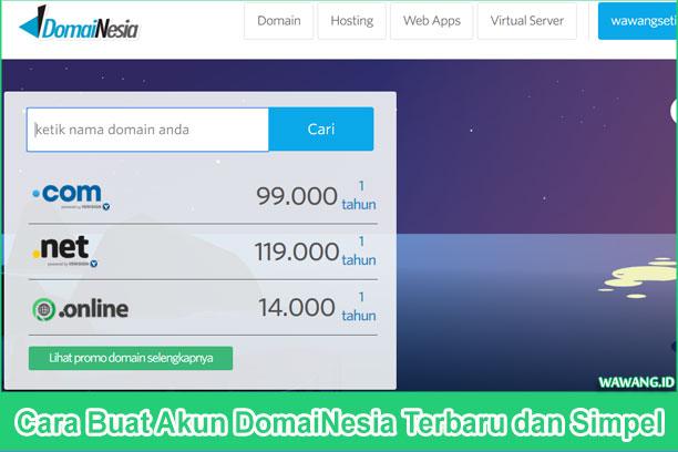 Langkah-langkah membuat akun baru di domainesia.com sebelum membeli domain