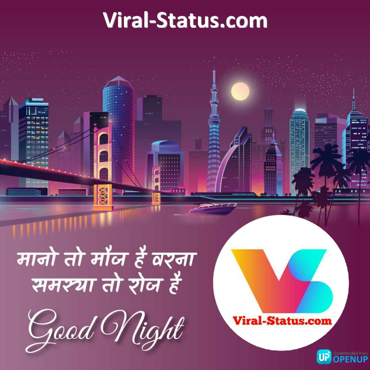 good night status image
