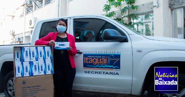 Itaguaí recebe 90 mil máscaras doadas pela parceria entre Cisbaf e Amil