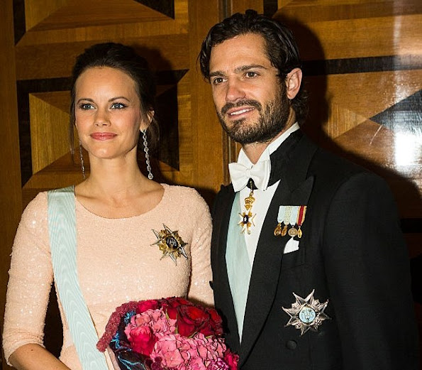 Prince Carl Phillip of Sweden and Princess Sofia Hellqvist of Sweden attends The Royal Swedish Academy of Engineering Sciences' Formal Gathering