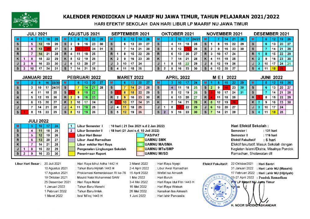 Kalender Pendidikan Tapel 2021-2022