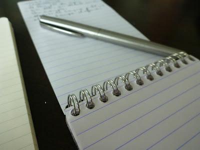 Notizpapier, Füller